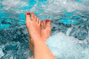 feet in the spa