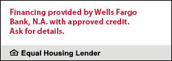 financing through Wells Fargo with approved credit
