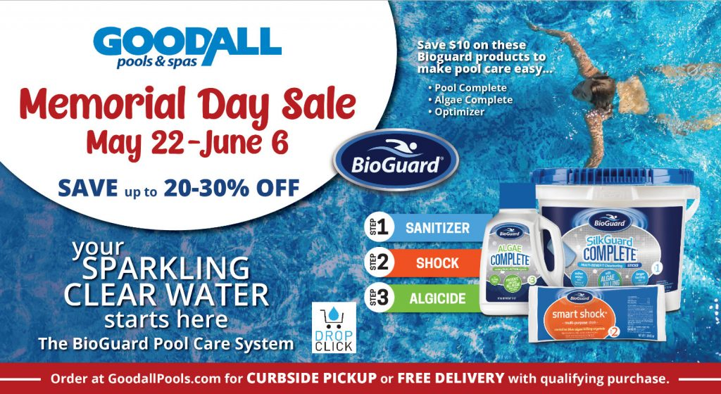 Goodall Pools Memorial Day Sale - May 22 through June 6 - Save up to 20-30% Off