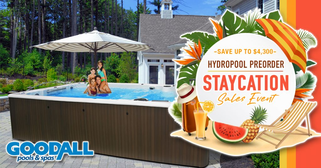 Save up to $4,300 on a Hydropool Preorder Staycation Sales Event